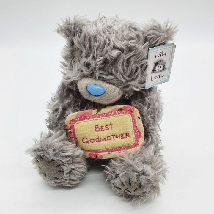 Купить Мишутка Т-17 мохнатенький с бежевой табличкой цв.серый 15см для кукол в Москве